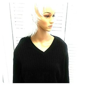 IZOD Black Cable knit Sweater XL